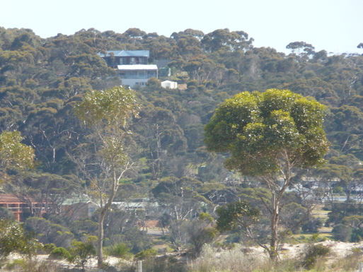 BoligBytte til,Australia,American River,Looking from the beach north to house white one!