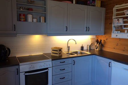 BoligBytte til,Norway,Voss,Newly renovated and fully equipped kitchen.
