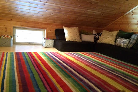 BoligBytte til,Norway,Voss,Spacious loft with a sofa, TV, apple TV, kids toys