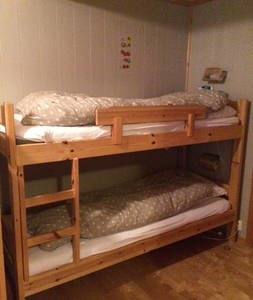 BoligBytte til,Norway,Voss,The kids bedroom has two bunk beds (90cm&120 wide)