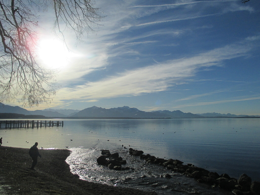 Home exchange in,Germany,Bergen,Chiemsee, view from Chieming