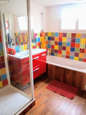 Bostadsbyte i,France,NANTES,Bathroom with shower and bath
