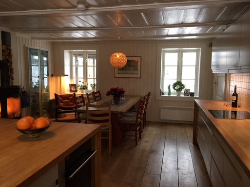 BoligBytte til,Norway,Nittedal,Kitchen from 1750, restored in 2000.