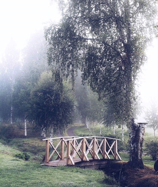 BoligBytte til,Norway,Nittedal,Beautiful bridge between the garden and the alley