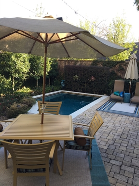 Backyard Pool and Seating Area