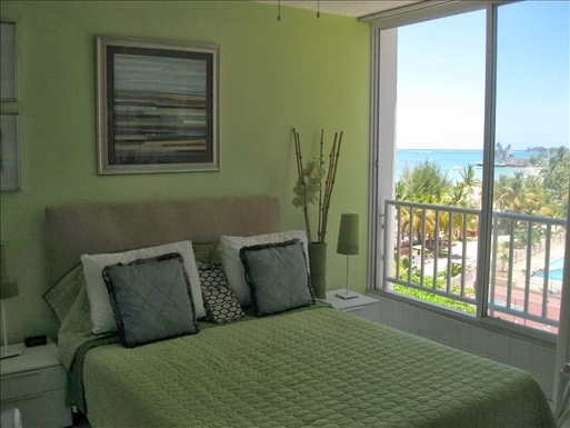 Bedroom with a view of the ocean