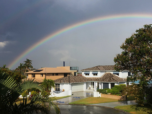 Rainbow over our houses