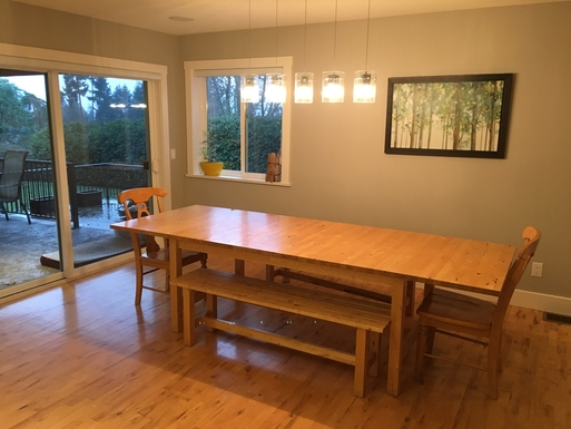 Home exchange in,Canada,Duncan,Dining area