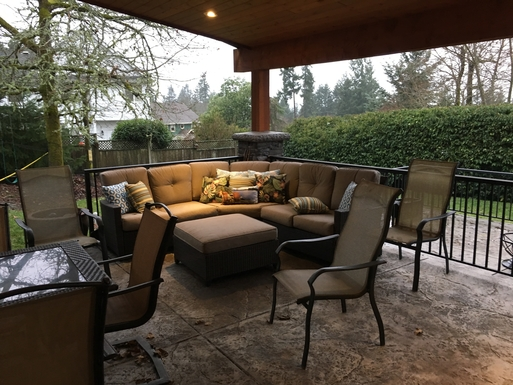 Home exchange in,Canada,Duncan,Covered outdoor living area