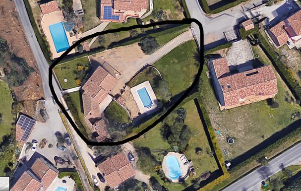 Vue de la maison via Google Maps