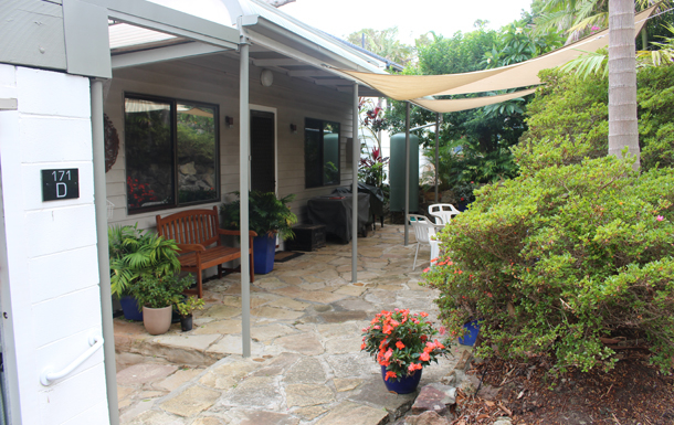 Home exchange in,Australia,Sydney's Northern Beaches,Front Patio
