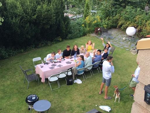 BoligBytte til,Norway,Oslo, 0k, W,Garden party! Photo taken from master bedroom.