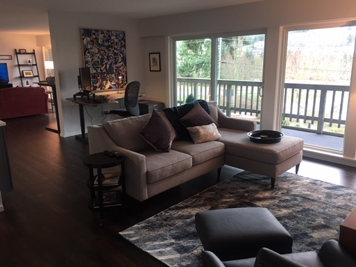 living room 1 with glass doors out to large deck
