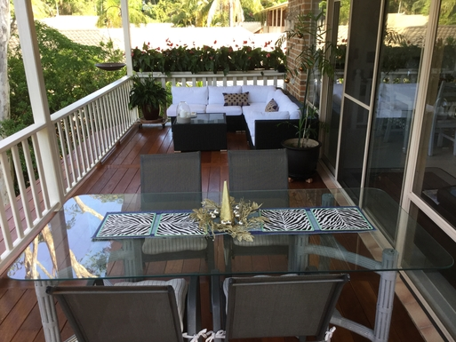 Home exchange in,Australia,Coffs Harbour,Large covered deck. Great for an afternoon nap.