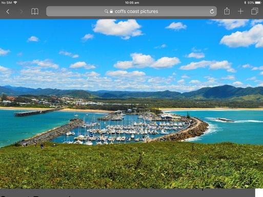 Home exchange in,Australia,Coffs Harbour,Coffs Marina from Muttonbird Island