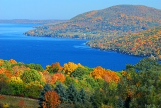 Canandaigua Lake, The Chosen Spot and Bare Hill
