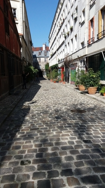 """The """"Passage"""", our apartment on the right"""