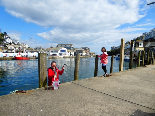 Home exchange in,United Kingdom,Plymouth,A day trip to nearby Looe to do some crabbing.