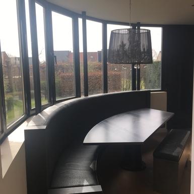 Home exchange in,Belgium,Zwijndrecht,Kitchen with dinnertable