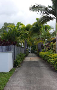 Home exchange in,Australia,Trinity Beach,Our driveway leading to our home at the back