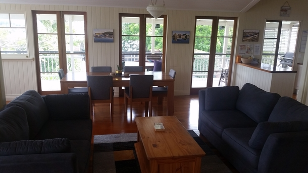 Home exchange in,Australia,Manly,Upstairs lounge and dining room