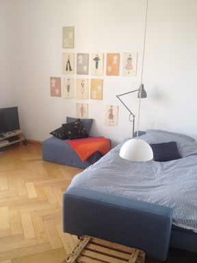 Home exchange in,Germany,München,livingroom with daybed