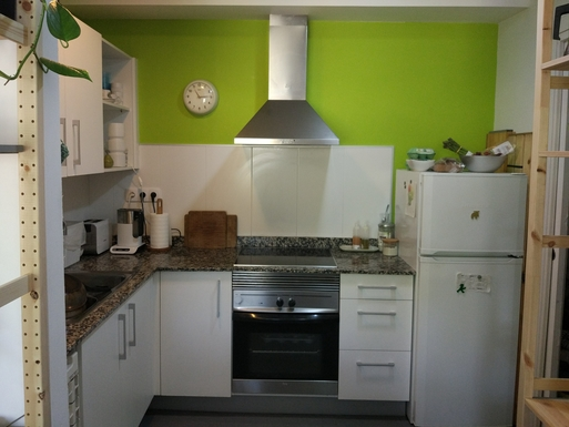 Home exchange in,Spain,Barcelona, 11k, N,Kitchen with all the facilities.