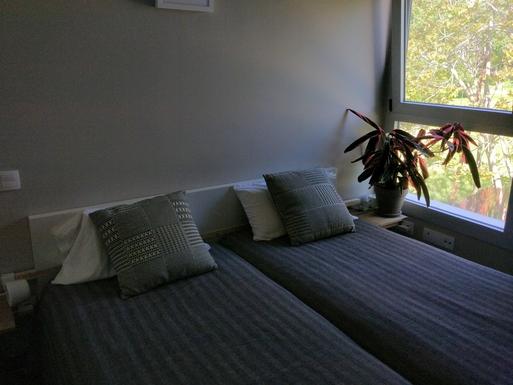 Home exchange in,Spain,Barcelona, 11k, N,Sleeping room, consisting in two twin beds.