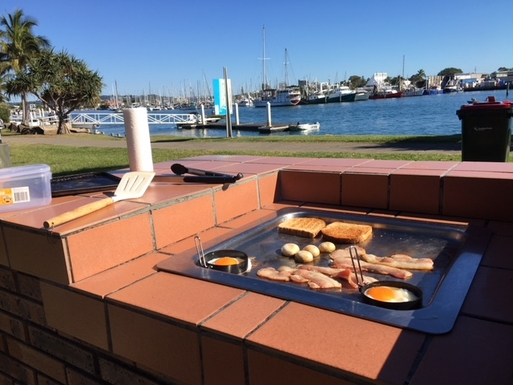 Home exchange in,Australia,BUDERIM,Breakfast at one of the free BBQs along the coast