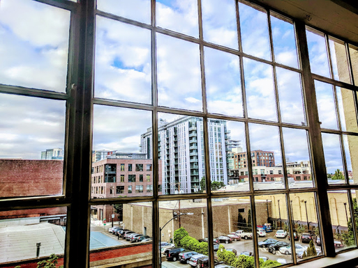 Home exchange in,United States,Portland,View of city from living room window
