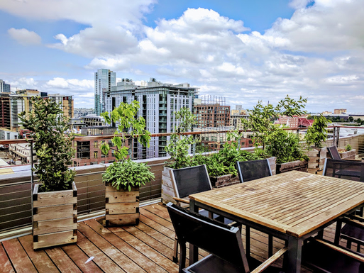 Home exchange in,United States,Portland,Rooftop deck with downtown views