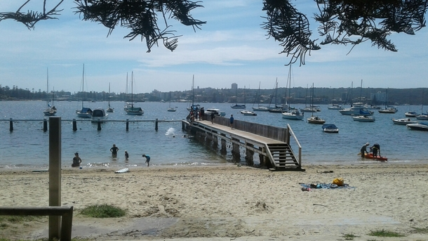 Home exchange in,Australia,Balgowlah Heights, Sydney,40 Baskets Beach swimming enclosure and wharf