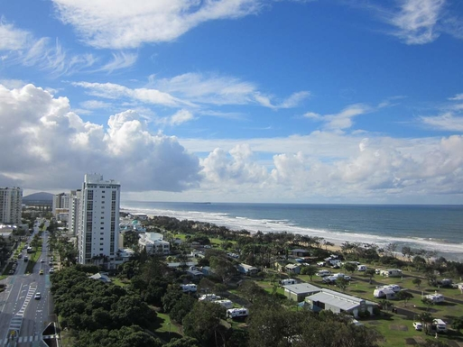 Home exchange in,Australia,Maroochydore BC,View from balcony on leve 12
