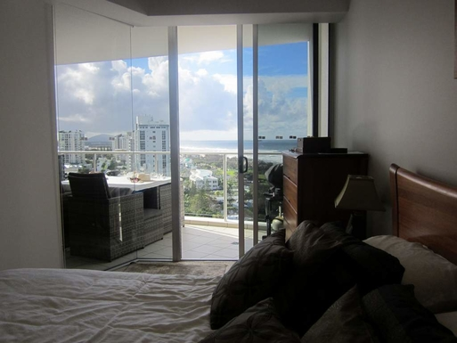 Home exchange in,Australia,Maroochydore BC,View from Master bedroom