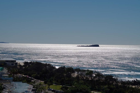 "Home exchange in,Australia,Maroochydore BC,View from balcony - North to ""old woman island"""