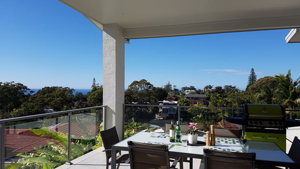 Home exchange in,Australia,Korora,Enjoy a BBQ or read a book on the balcony