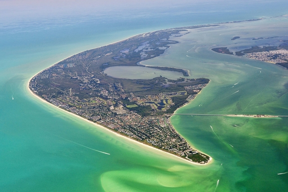 Huizenruil in ,United States,Sanibel,Aerial view of Sanibel and Captiva islands