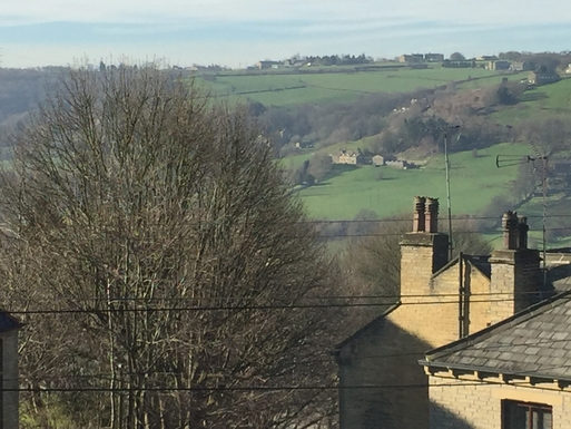Home exchange in,United Kingdom,Halifax,This is the view from the bed of the Calder Valley