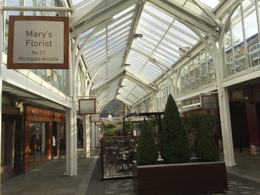 Home exchange in,United Kingdom,Halifax,One of the Victorian shopping arcades in Halifax
