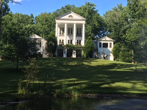 A Classic Greek Revival on 6 Acres of Gardens