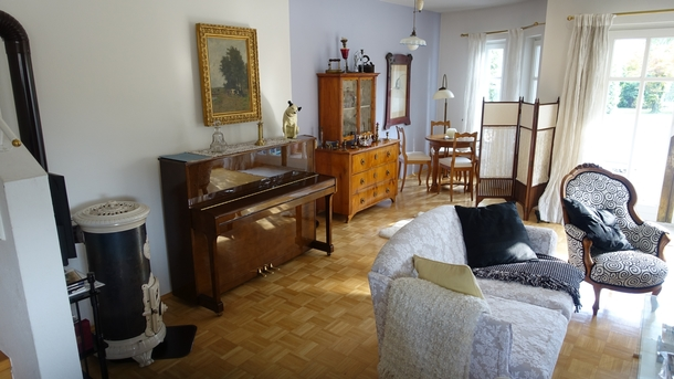 Home exchange in,Austria,Salzburg,Living room with piano
