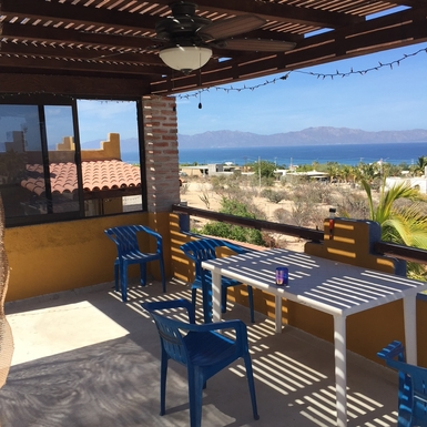 BoligBytte til,Mexico,La Paz,upstairs patio and view of Cerralvo Island