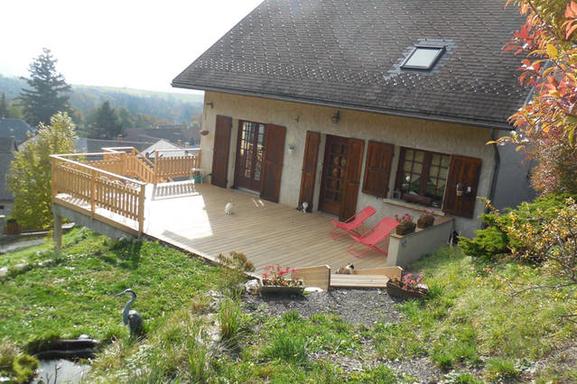 la maison , vue la terrasse Est