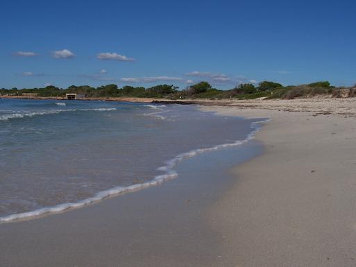 Playa Es Carbó (a unos 25 min. andando)