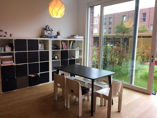 Home exchange in,Belgium,Antwerpen,Spacious and light diningroom with garden