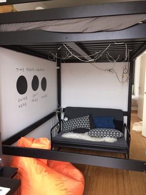 Home exchange in,Belgium,Antwerpen,2 children's bedrooms with a highsleeper and sofa