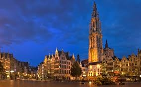 Home exchange in,Belgium,Antwerpen,our cathedral with nice restaurants and bars