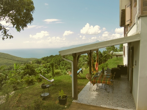 Home exchange in Martinique,Les Anses d Arlet, martinique,Beautiful seaview on Les ANSES d'ARLET,Home Exchange & House Swap Listing Image