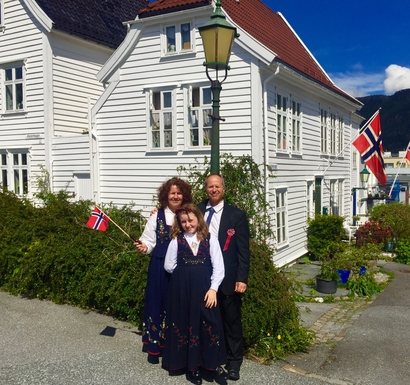 17 mai , the national day in Bergen