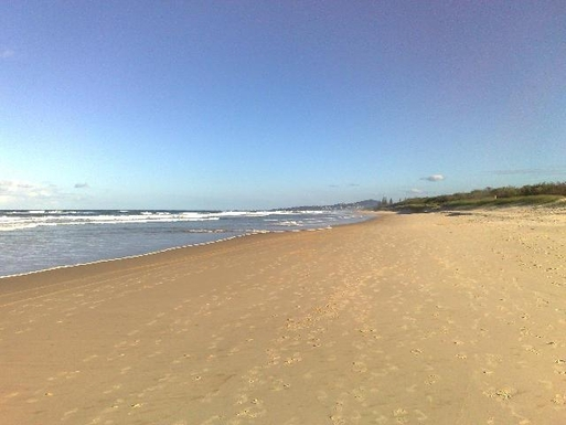 Home exchange in,Australia,PEREGIAN BEACH,local beach.Coolum in distance and Peregian at pin